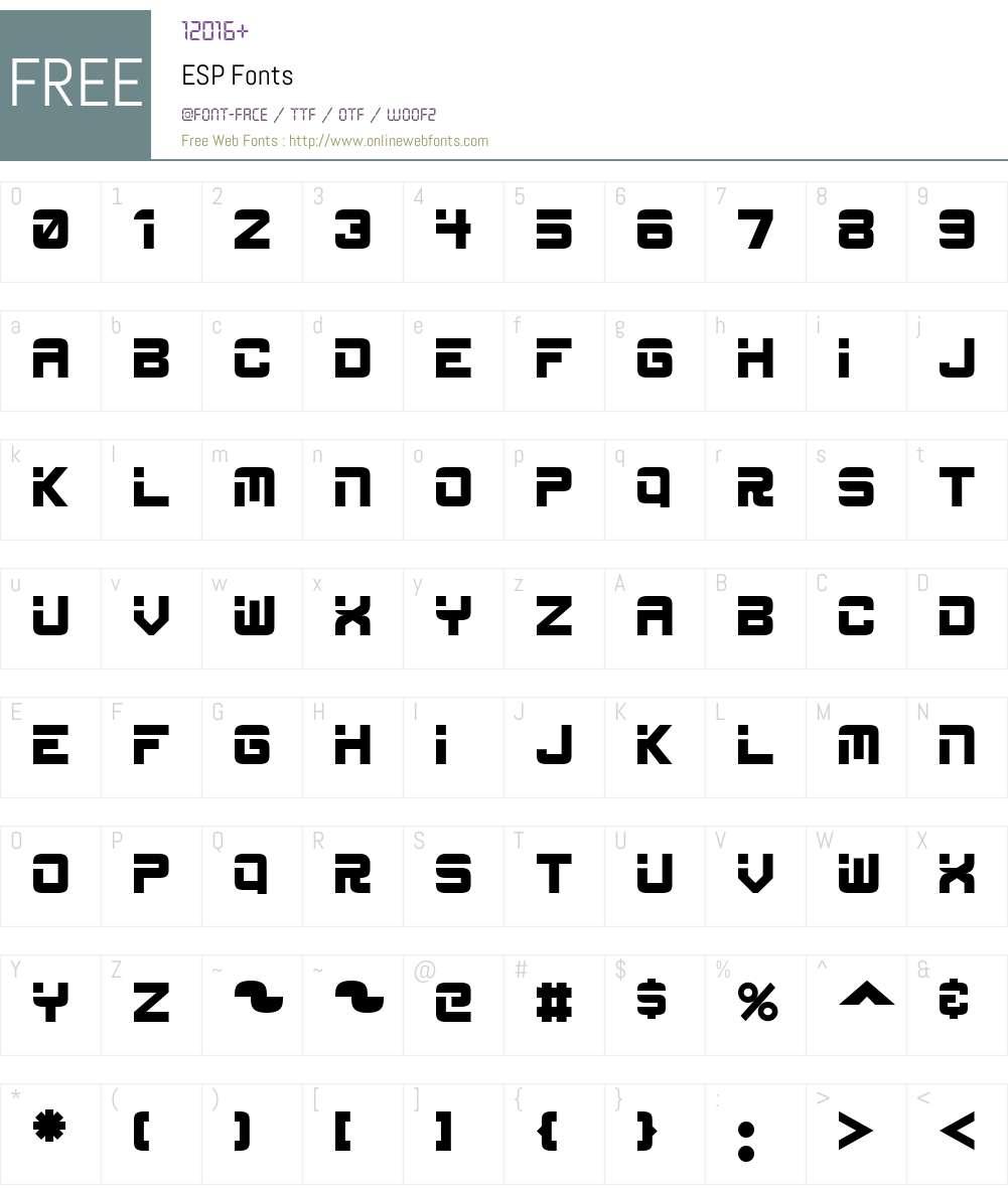 ESP Font Screenshots