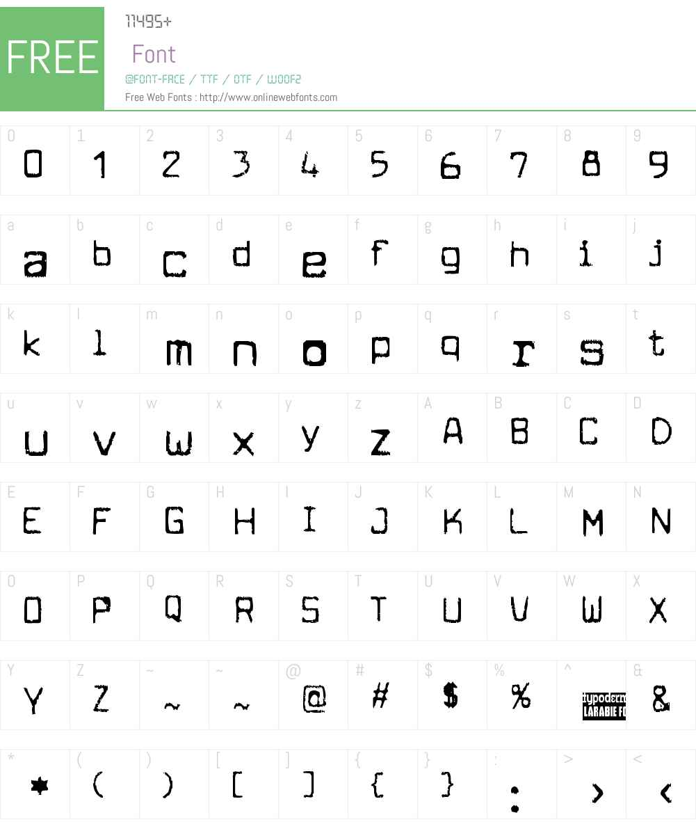 Cuomotype Font Screenshots