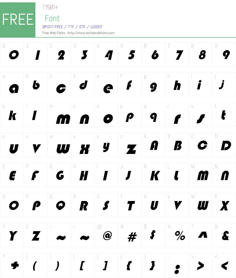 Blimpo Font Screenshots
