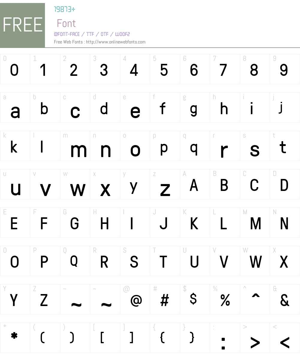 GT Pressura Font Screenshots