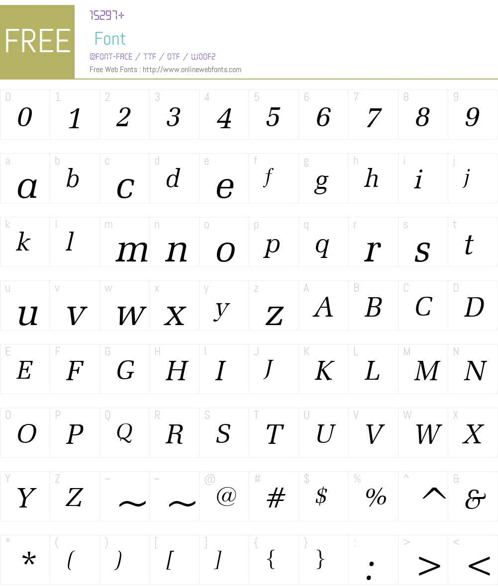 ZapfElliptical711W01-Italic Font Screenshots