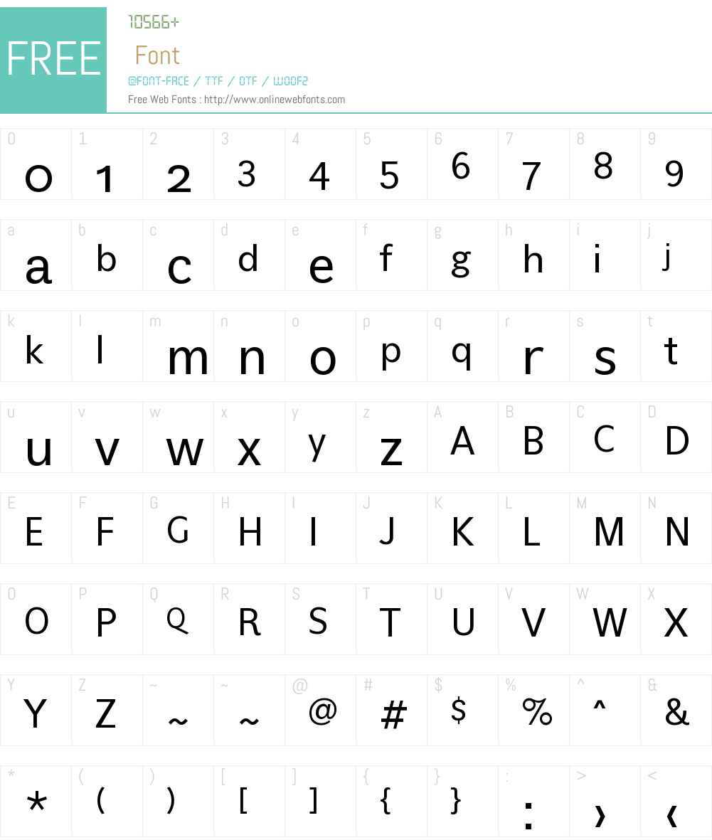 Eau Naturelle Font Screenshots