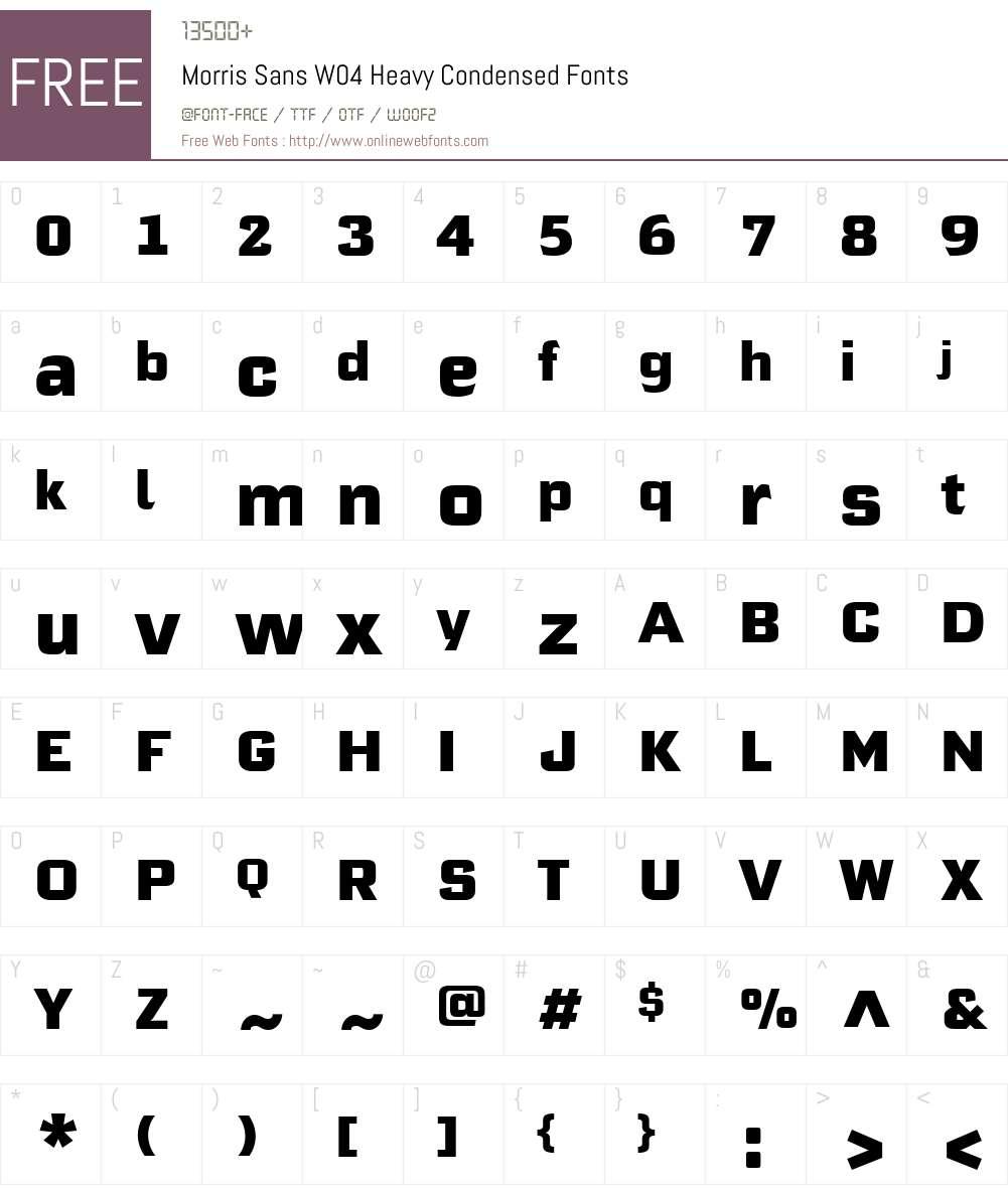 Morris Sans Font Screenshots