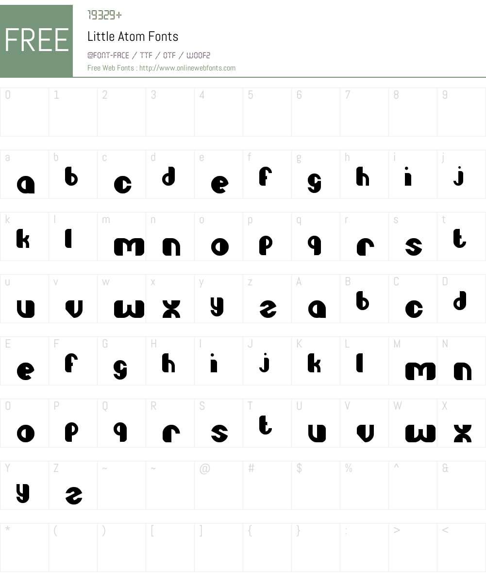 Little Atom Font Screenshots