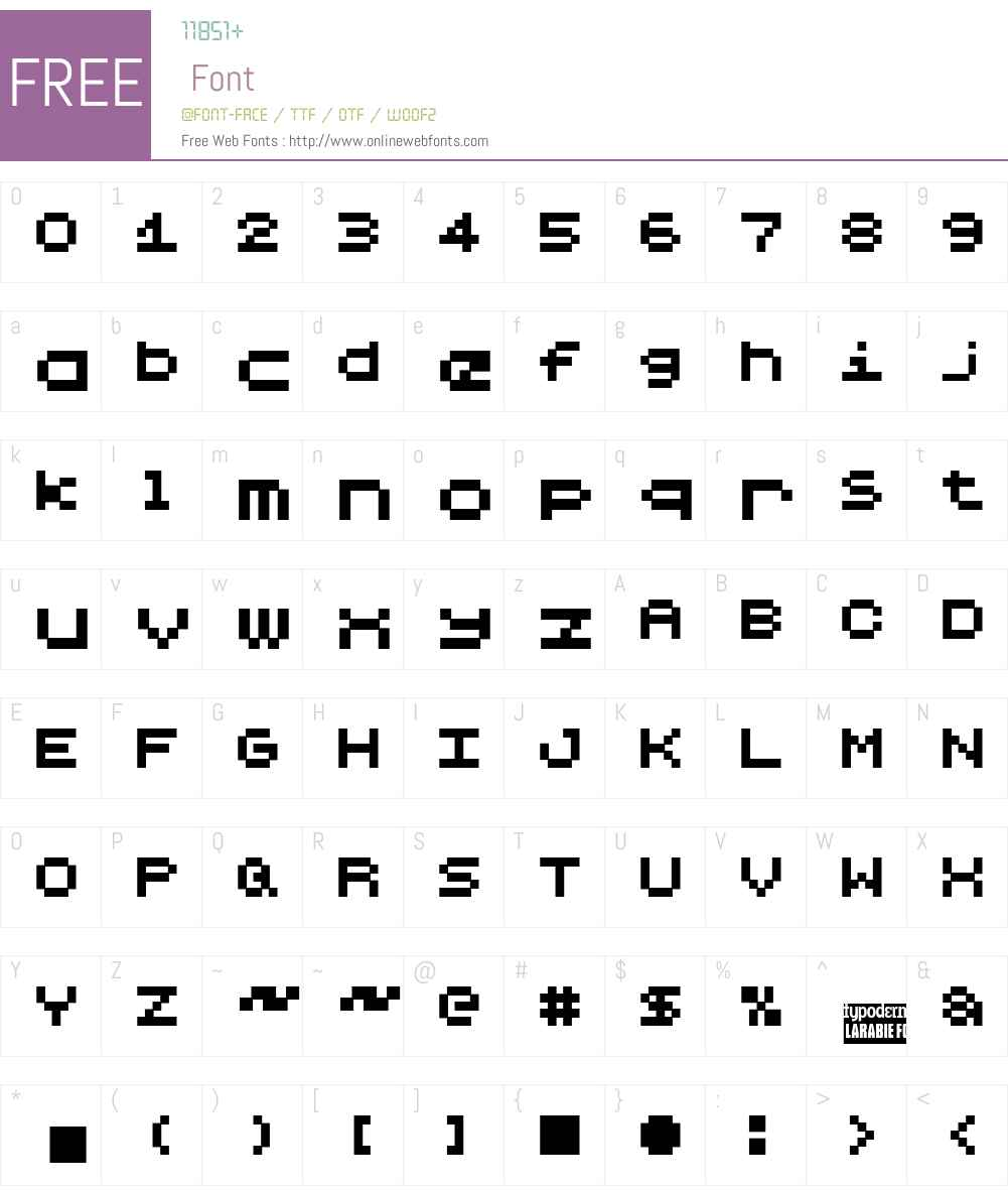 Lilliput Steps Font Screenshots