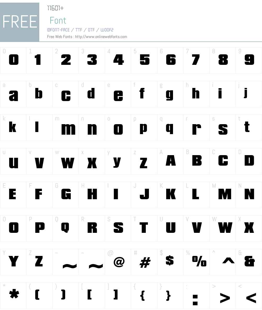 Compacta Blk BT Font Screenshots