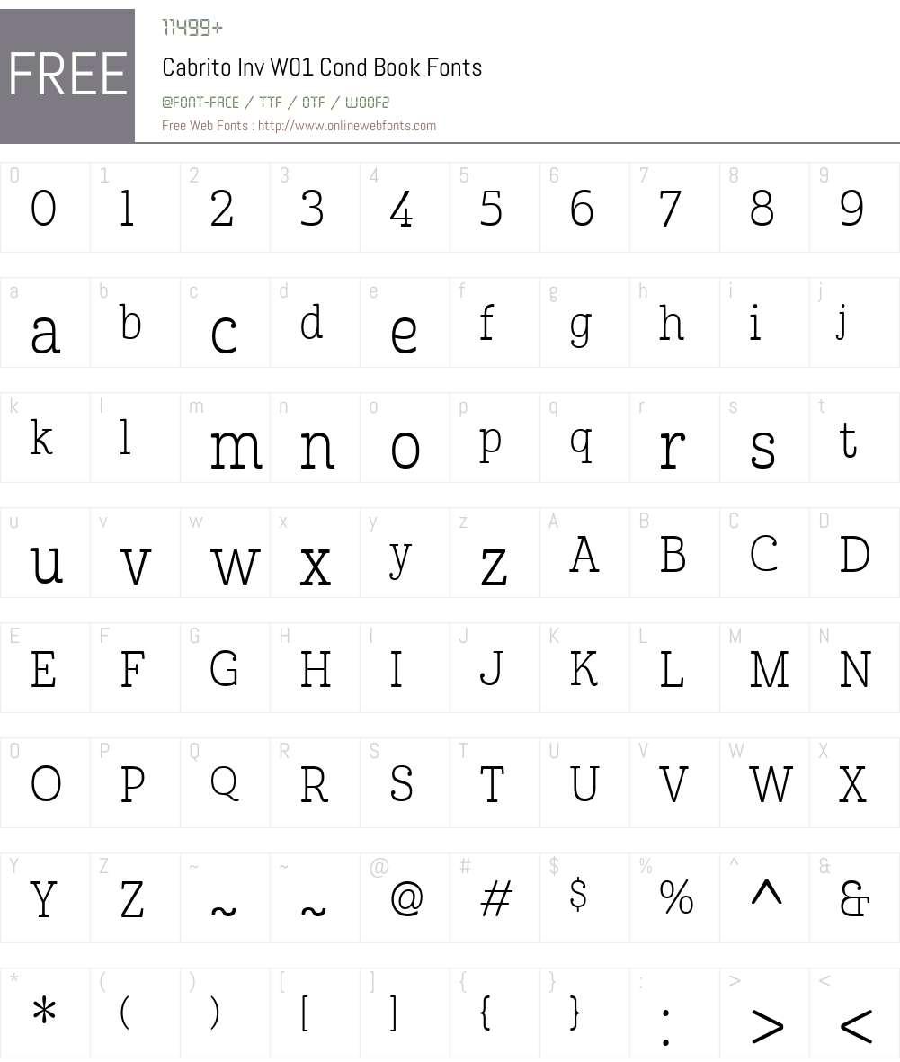 CabritoInvW01-CondBook Font Screenshots