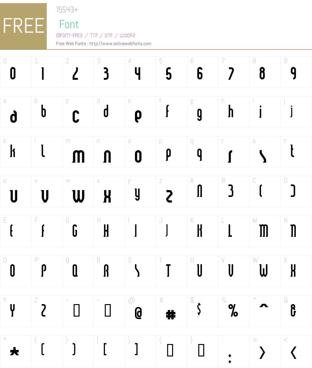 Smart and Sexy Font Screenshots