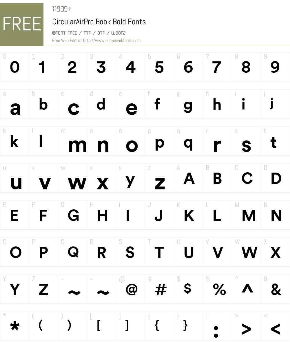 CircularAirPro Book Font Screenshots