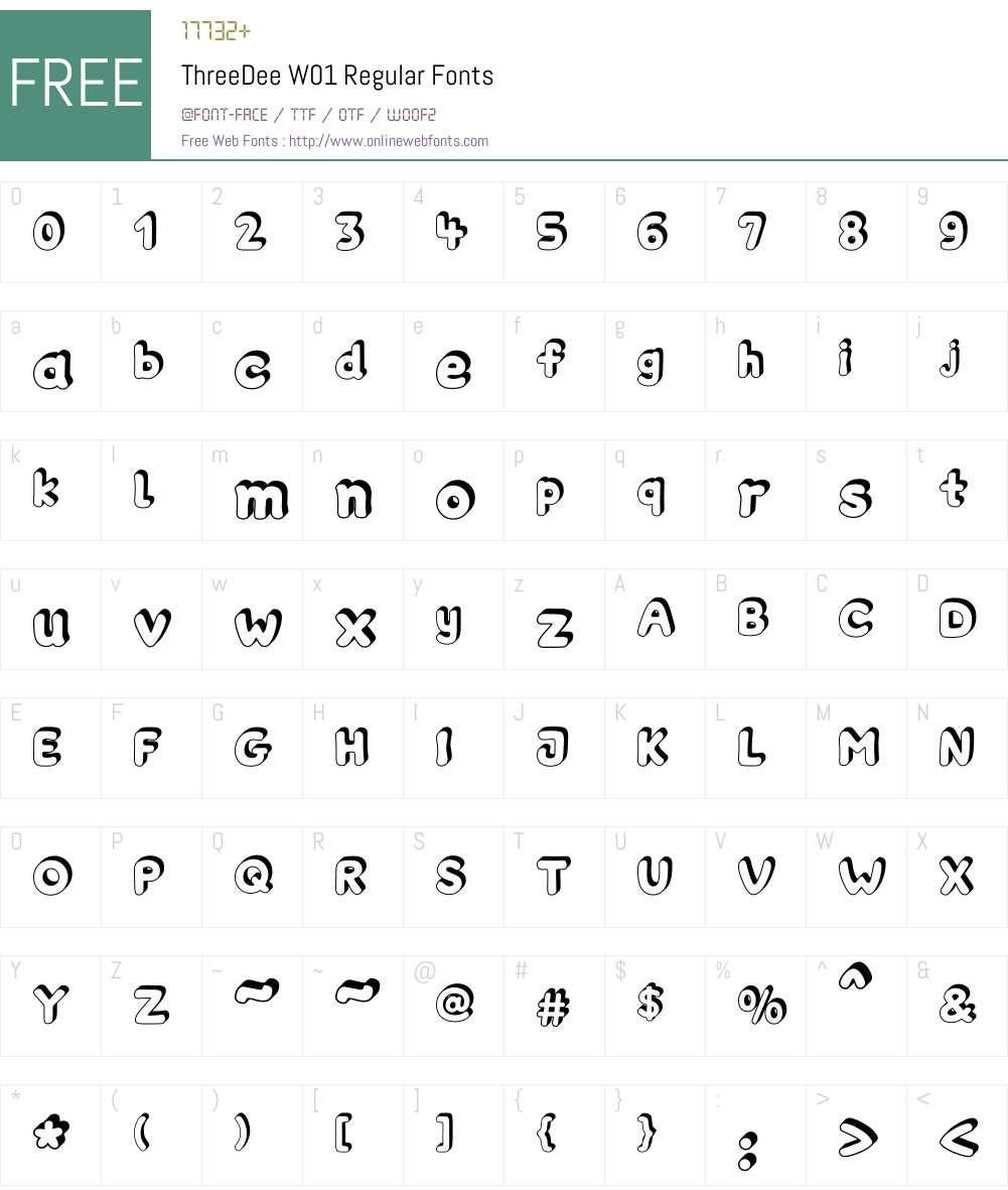 ThreeDee Font Screenshots