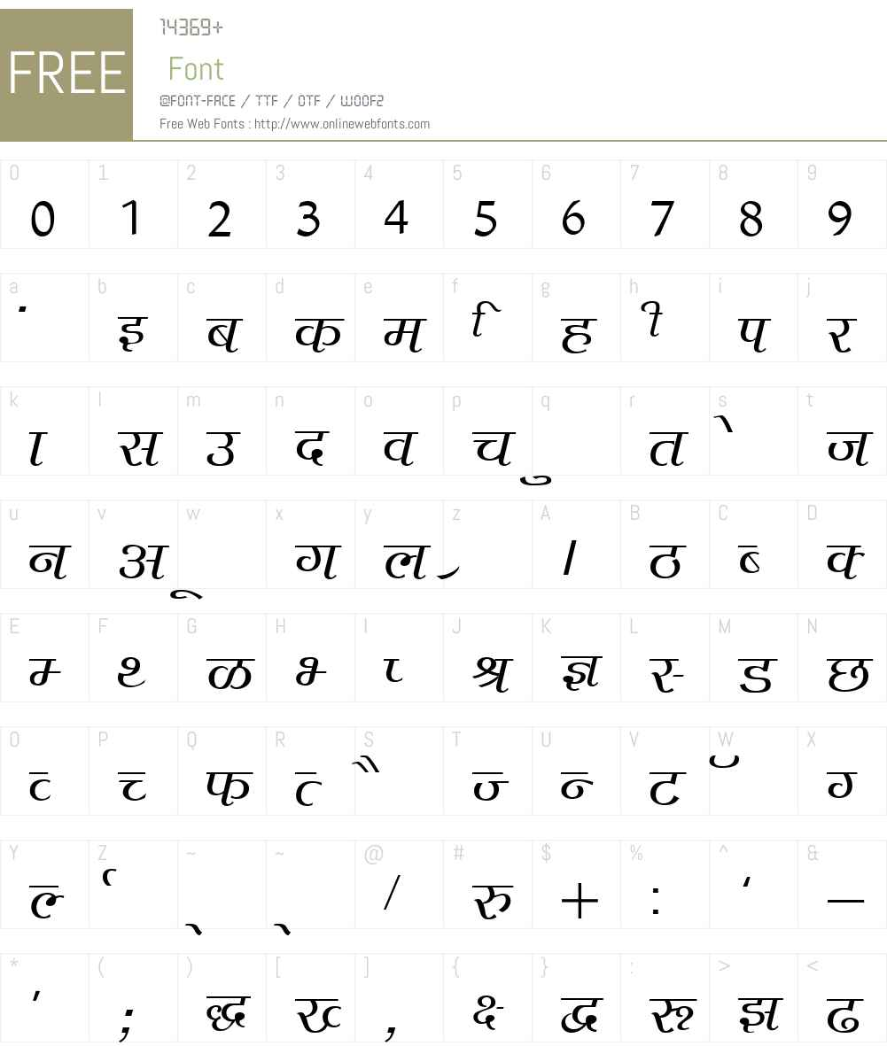 Agra Font Screenshots