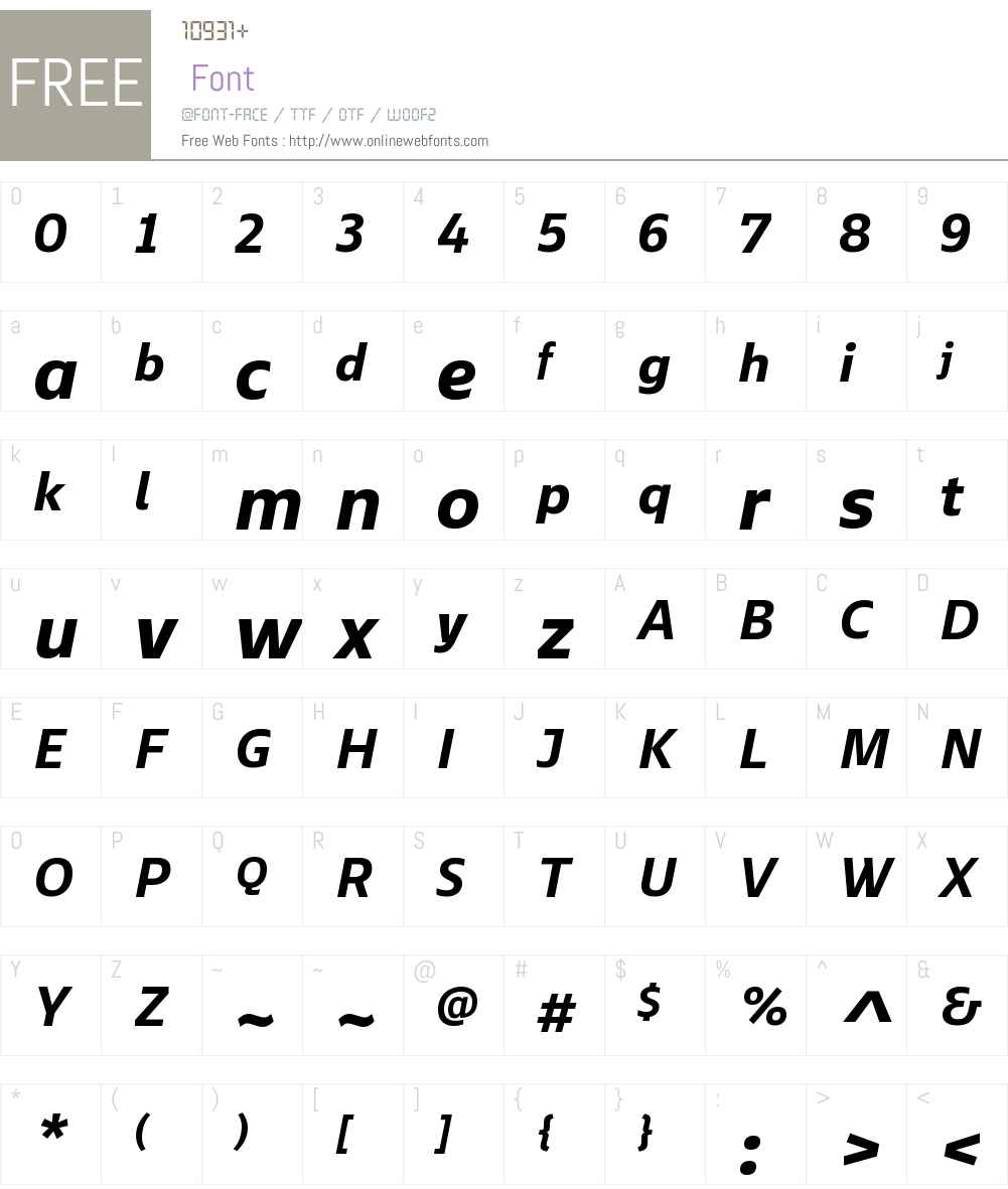 EbonyW01-BoldItalic Font Screenshots