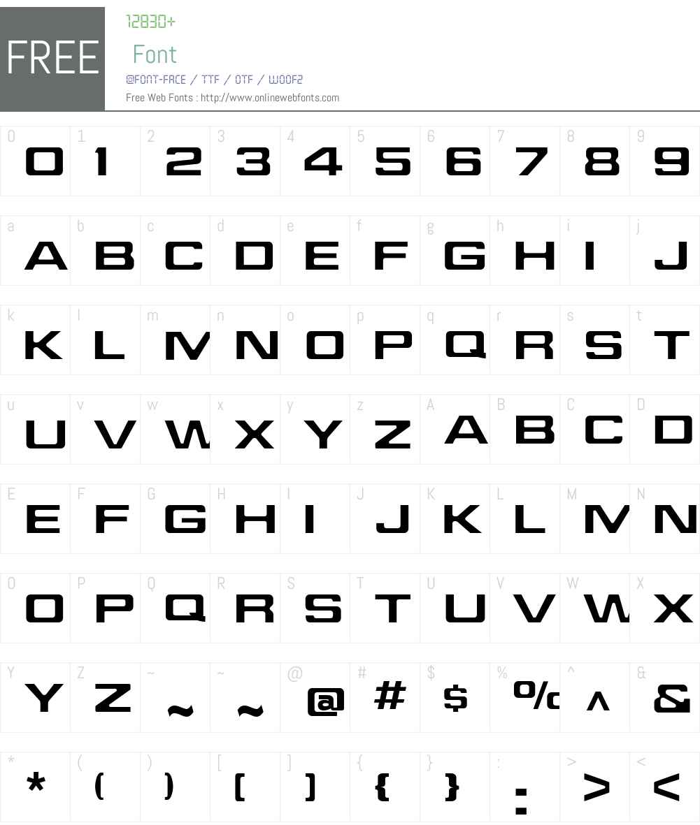 Jefferies Font Screenshots