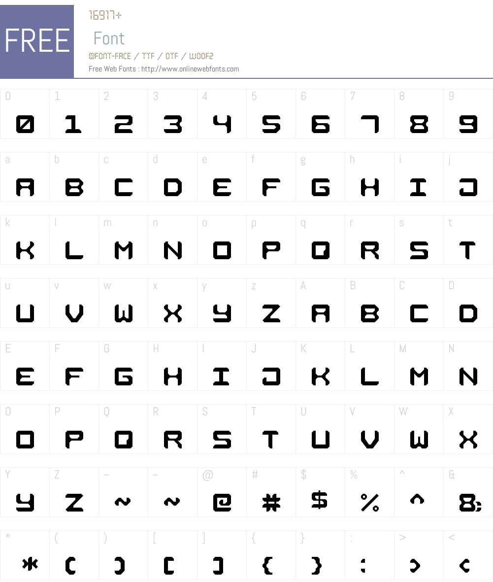 Square Metal-7 Font Screenshots
