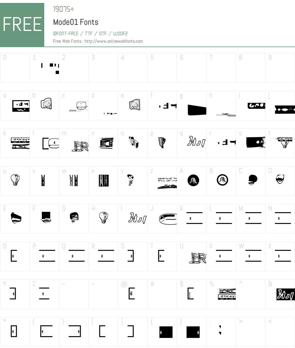 Mode Font Screenshots