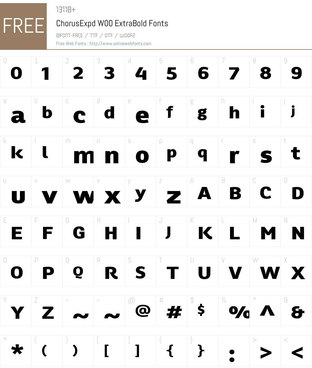 ChorusExpdW00-ExtraBold Font Screenshots