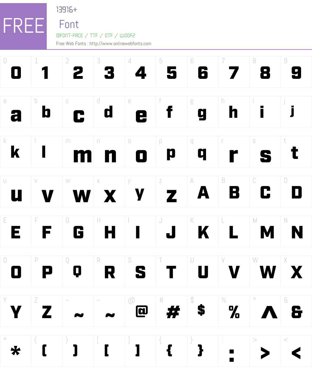 IndustryW00-Ultra Font Screenshots