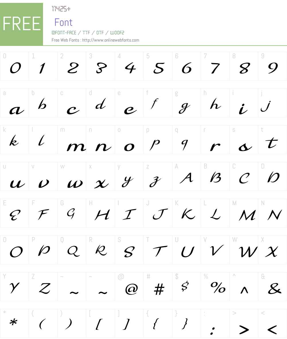 Florencia Font Screenshots
