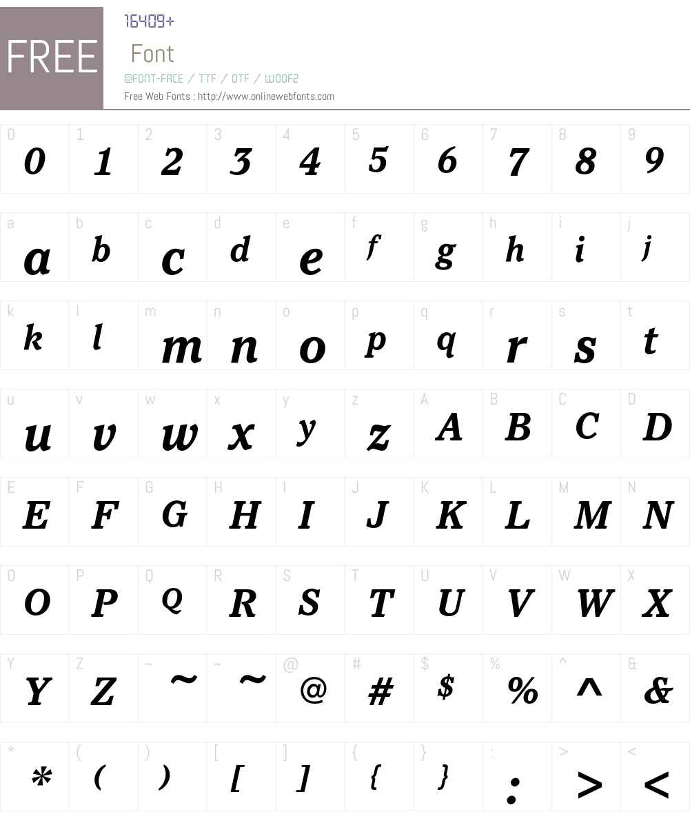 PacellaEF-BoldItalic Font Screenshots