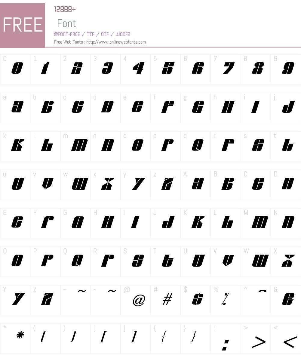 Glyphic Font Screenshots