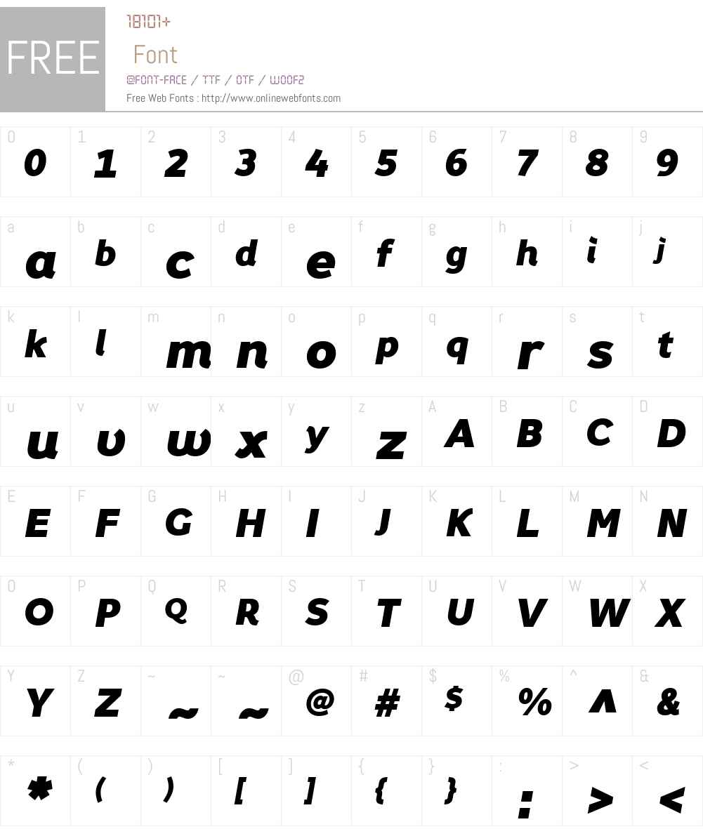 FoxGrotesqueW01-BlackItalic Font Screenshots