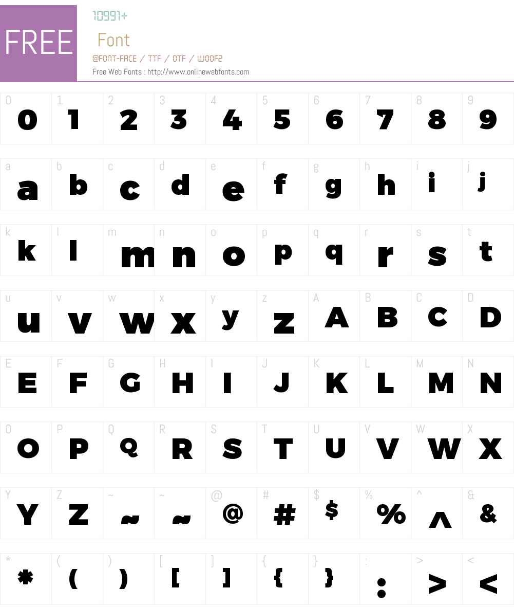 Trueno Font Screenshots