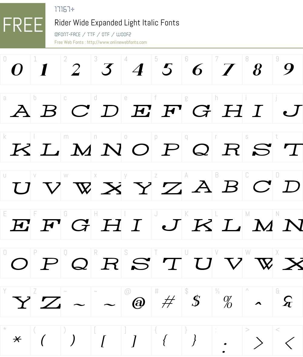 Rider Wide Font Screenshots