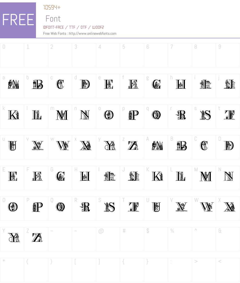 Picture Alphabet Font Screenshots