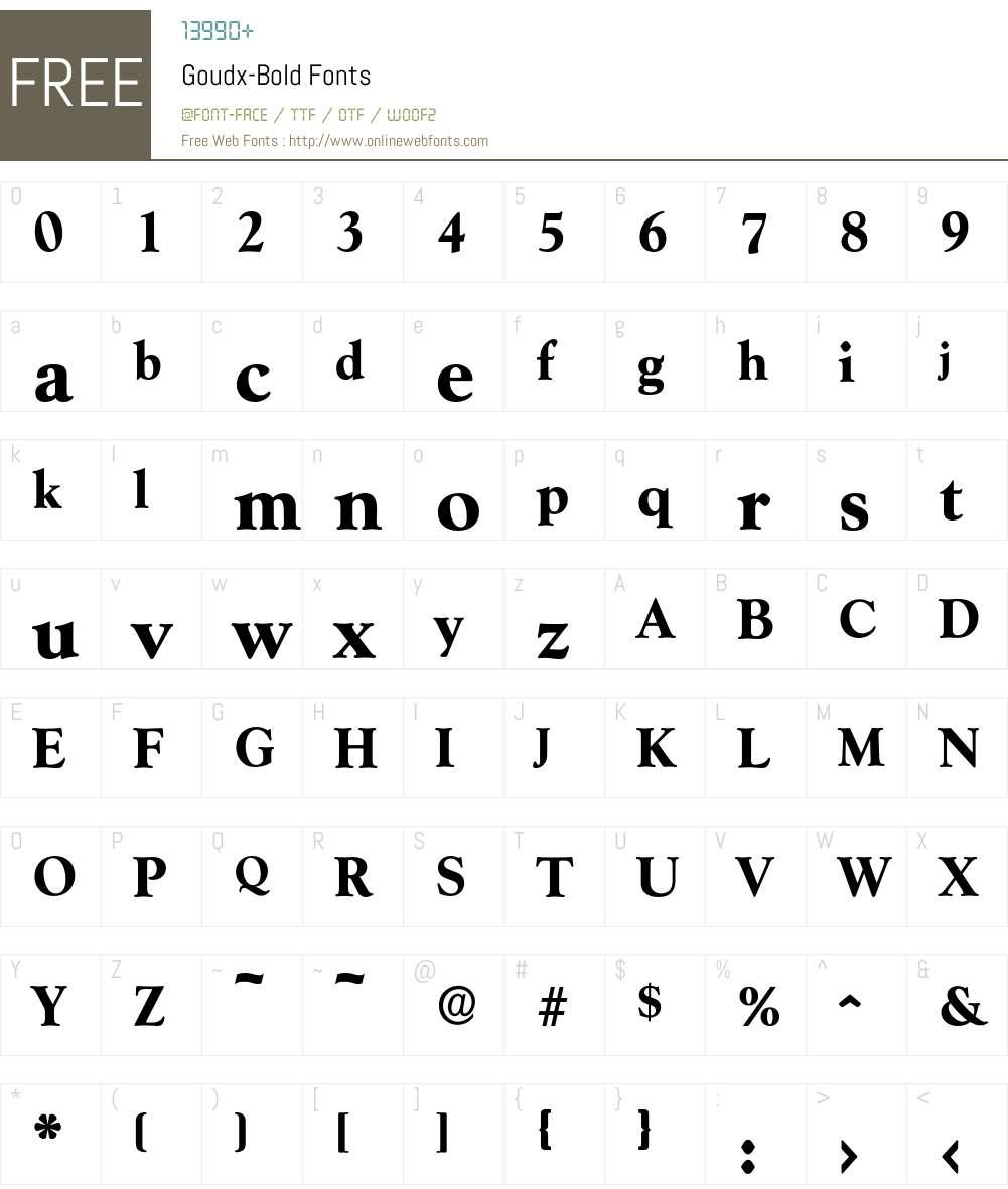 Goudx-Bold Font Screenshots