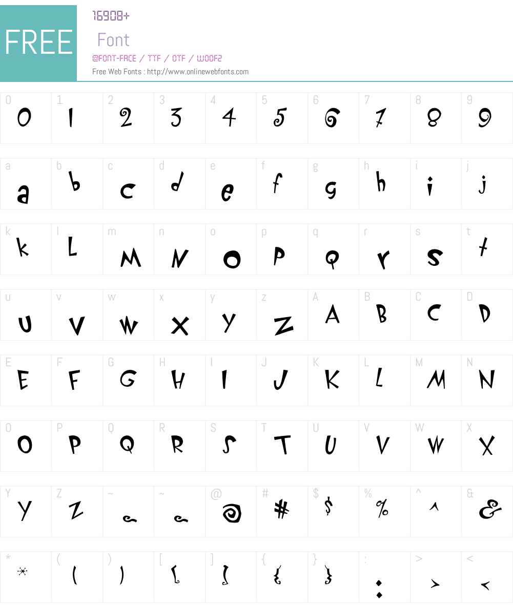 KlunderScript Font Screenshots