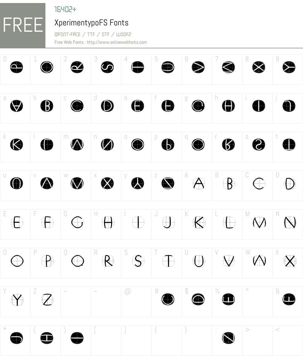 XperimentypoFS Font Screenshots