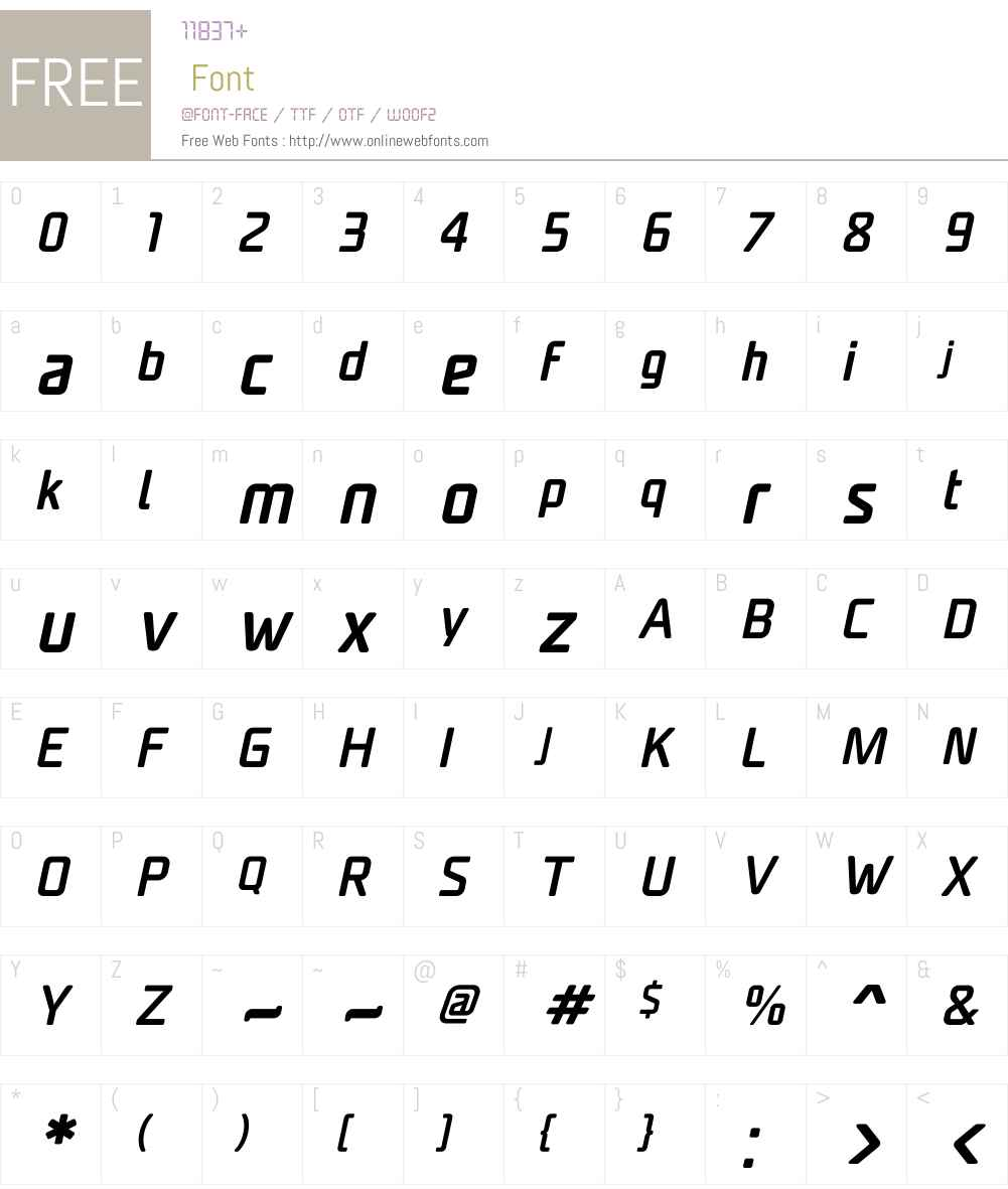 UnicodSansW01-MediumItalic Font Screenshots