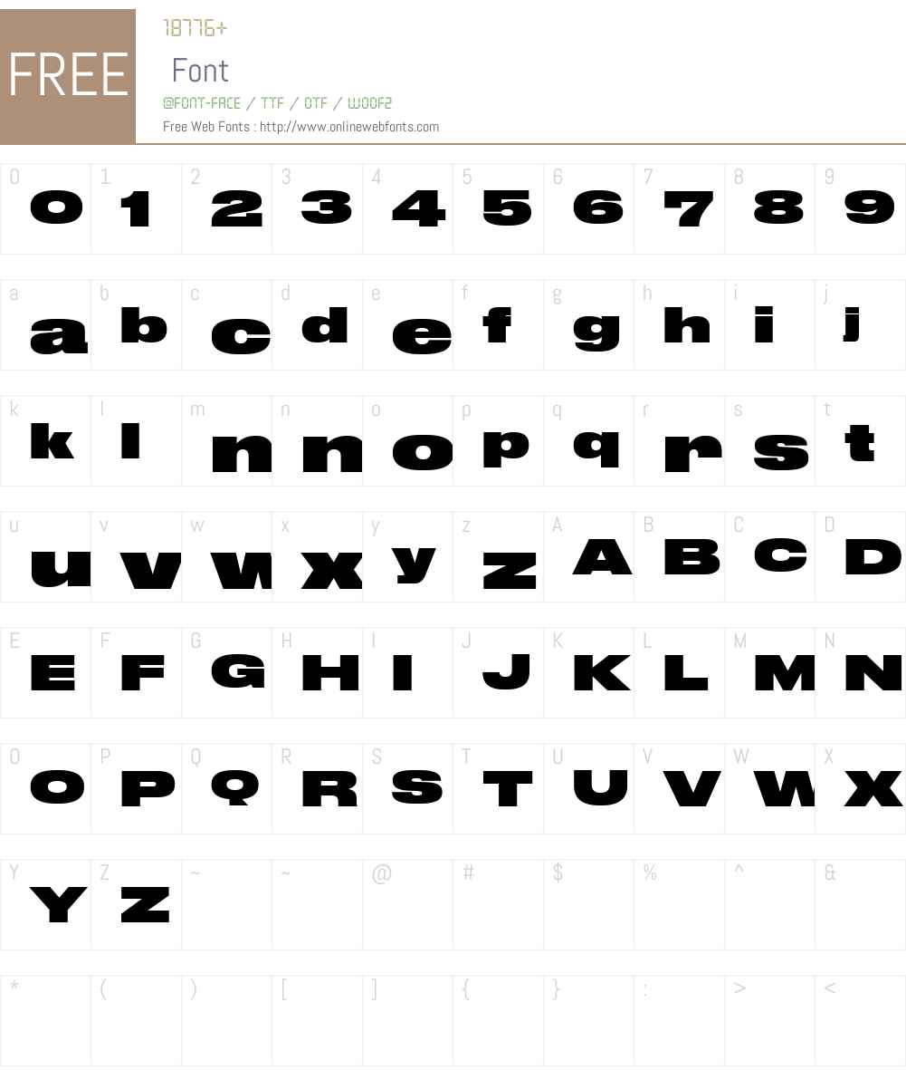 Druk Wide Web Super Font Screenshots