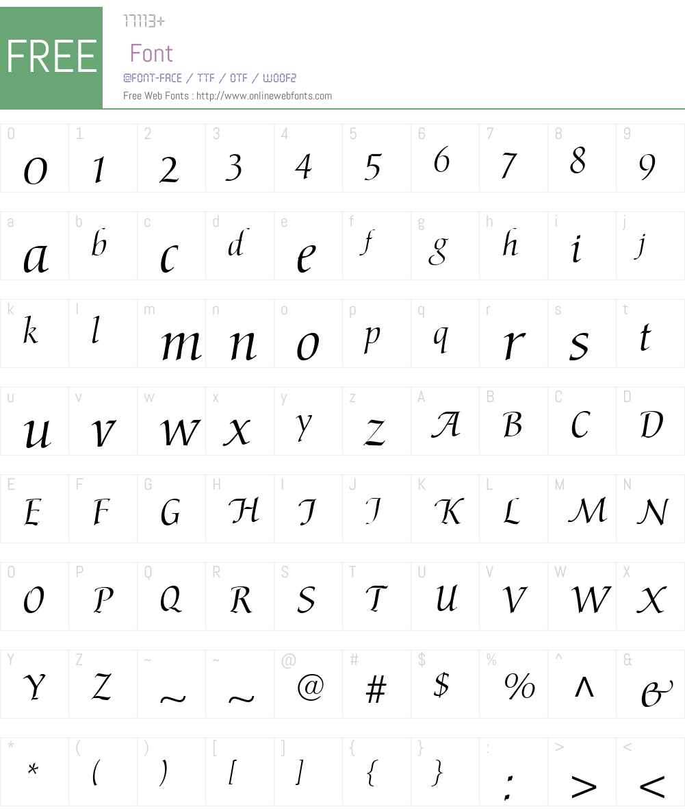 AriosoW01 Font Screenshots