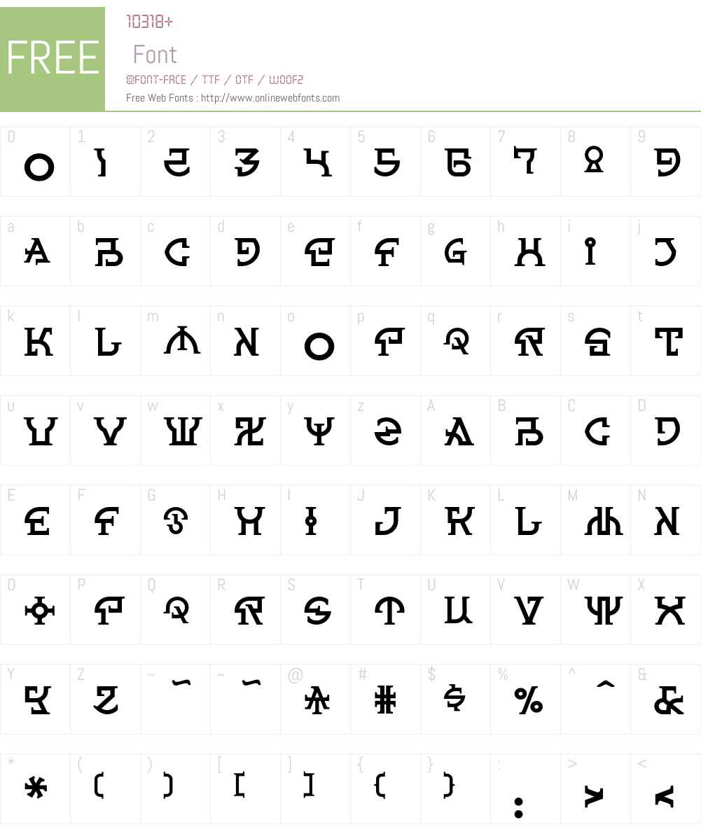 Spanner Font Screenshots