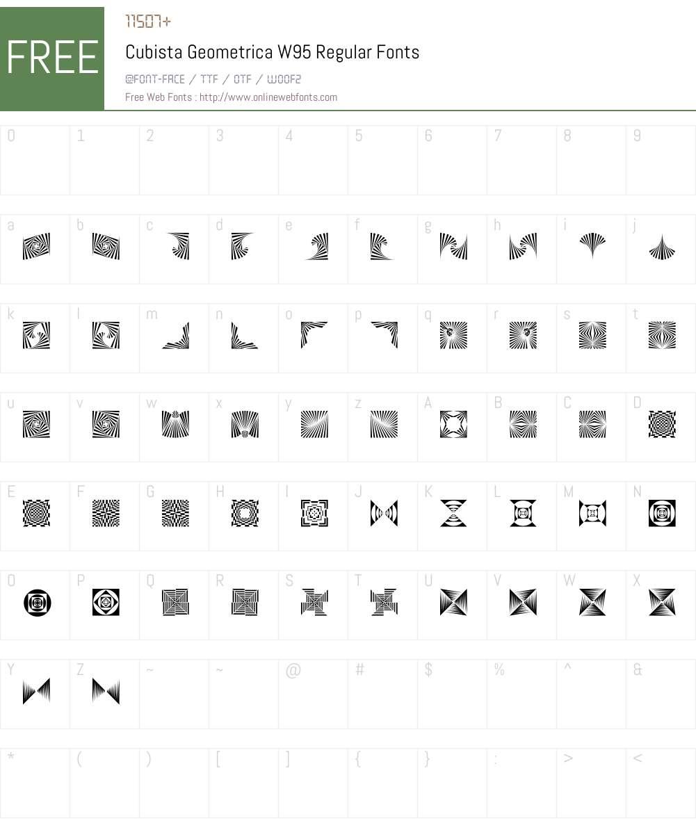 CubistaGeometricaW95-Rg Font Screenshots