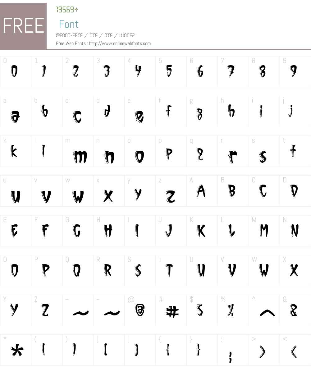 ITCVinylW01-Sawtooth Font Screenshots