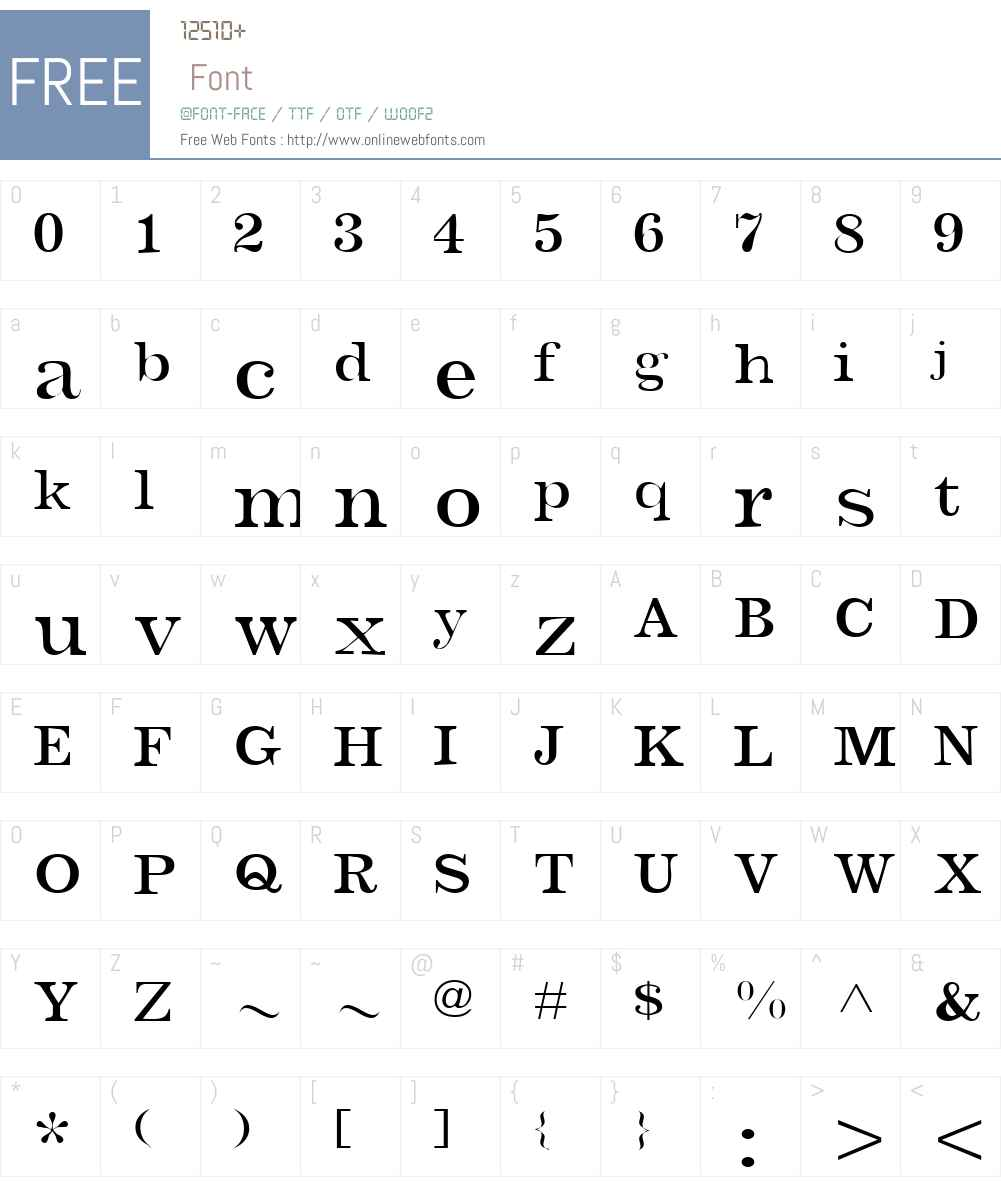 Barbera Font Screenshots