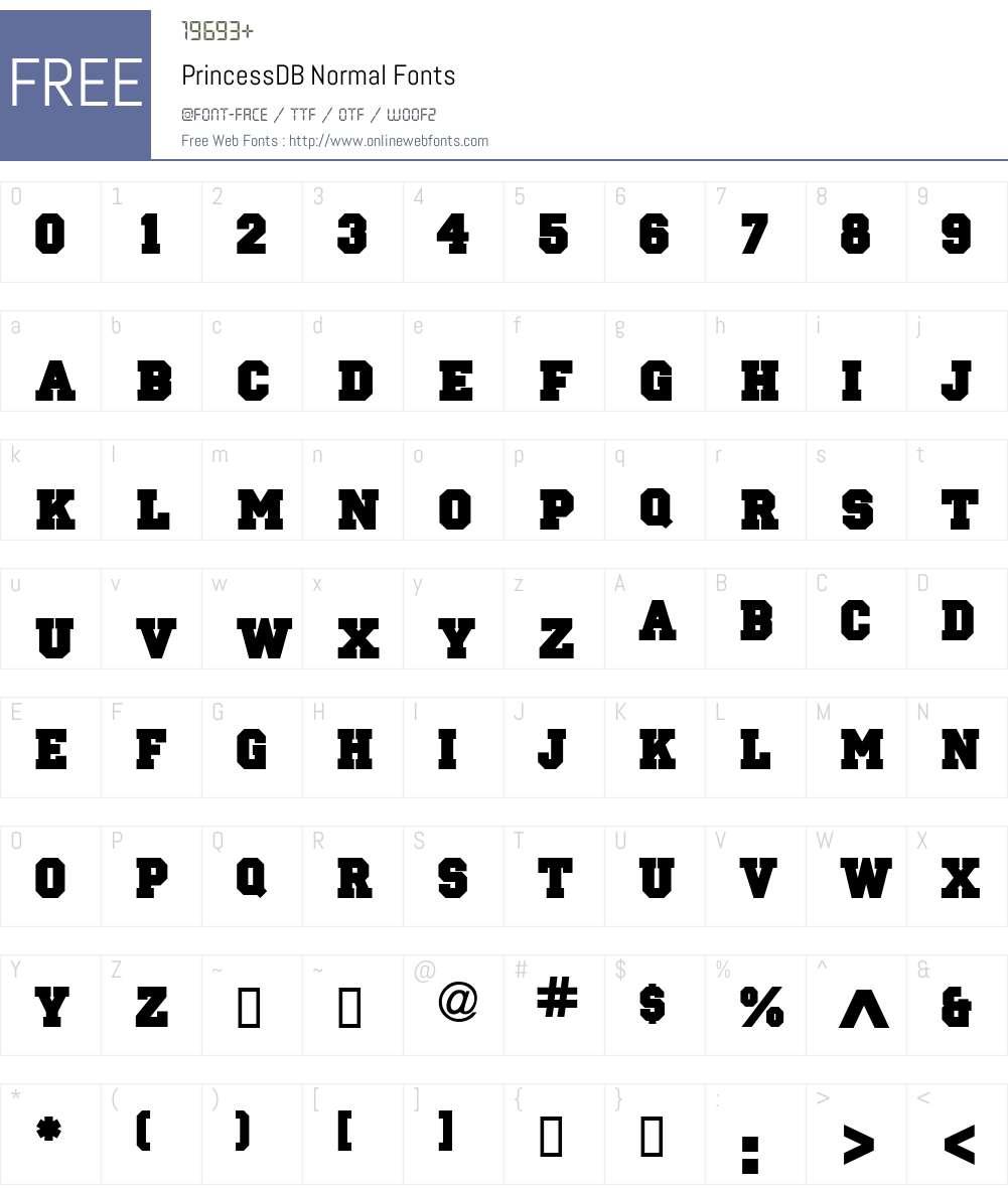 PrincessDB Font Screenshots