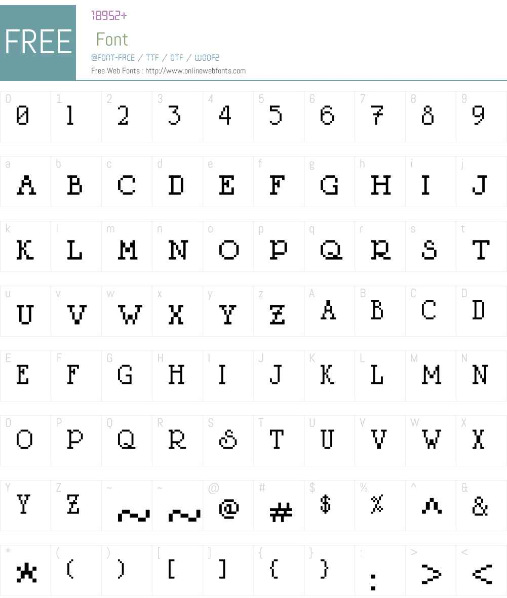 LitterLover Font Screenshots