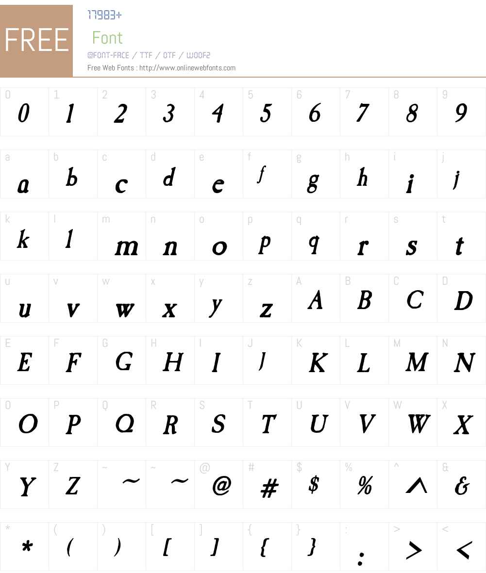 Caslon Antique Font Screenshots