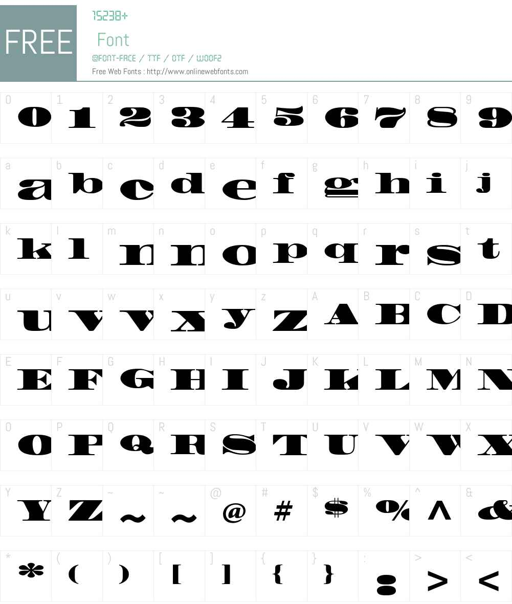 Madrone Std Font Screenshots