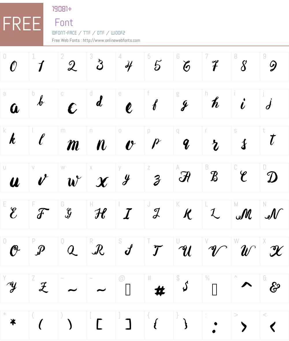 Baurbon Font Screenshots