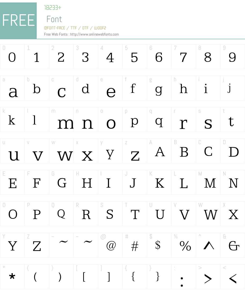 ATFAntiqueL Font Screenshots