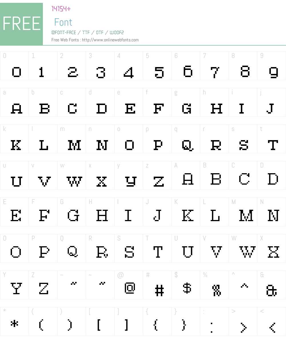 AtlantisTextCaps Font Screenshots