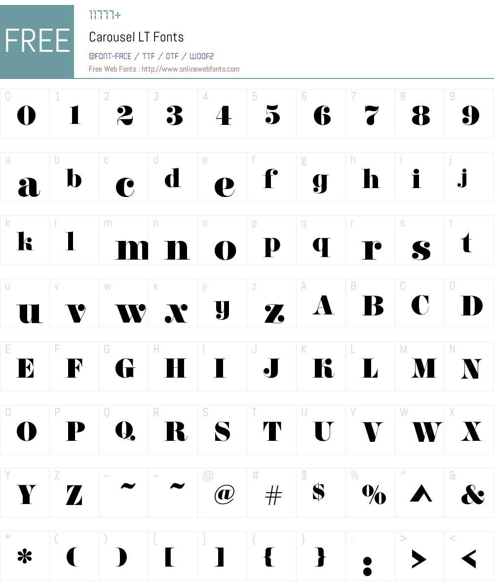 CarouselLT Font Screenshots