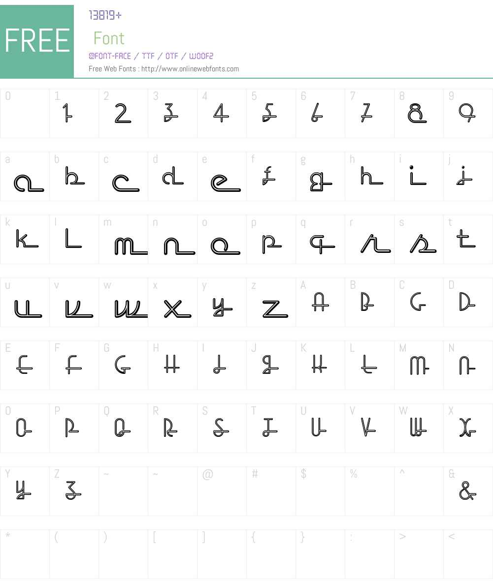 Neon Script Font Screenshots