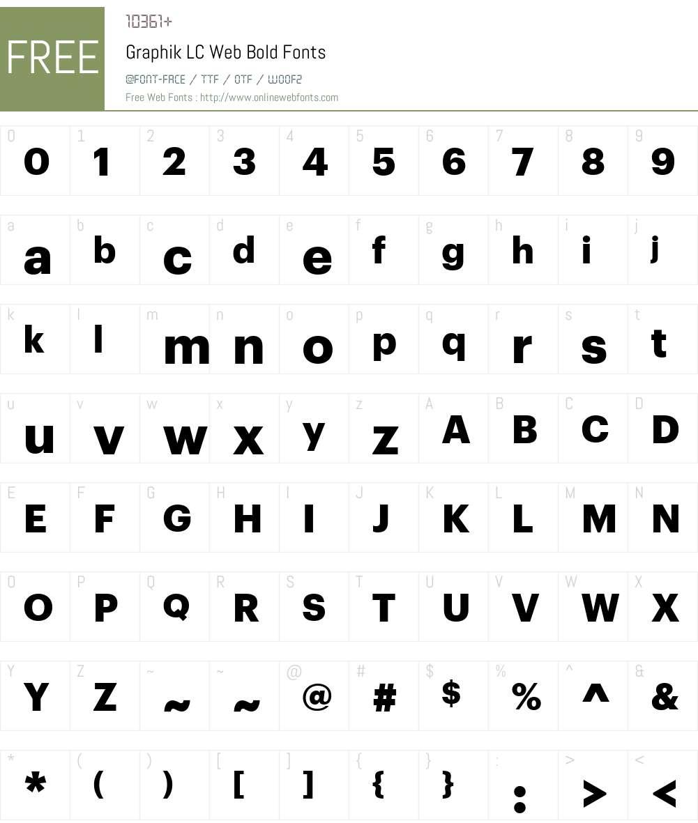 Graphik LC Web Bold Font Screenshots