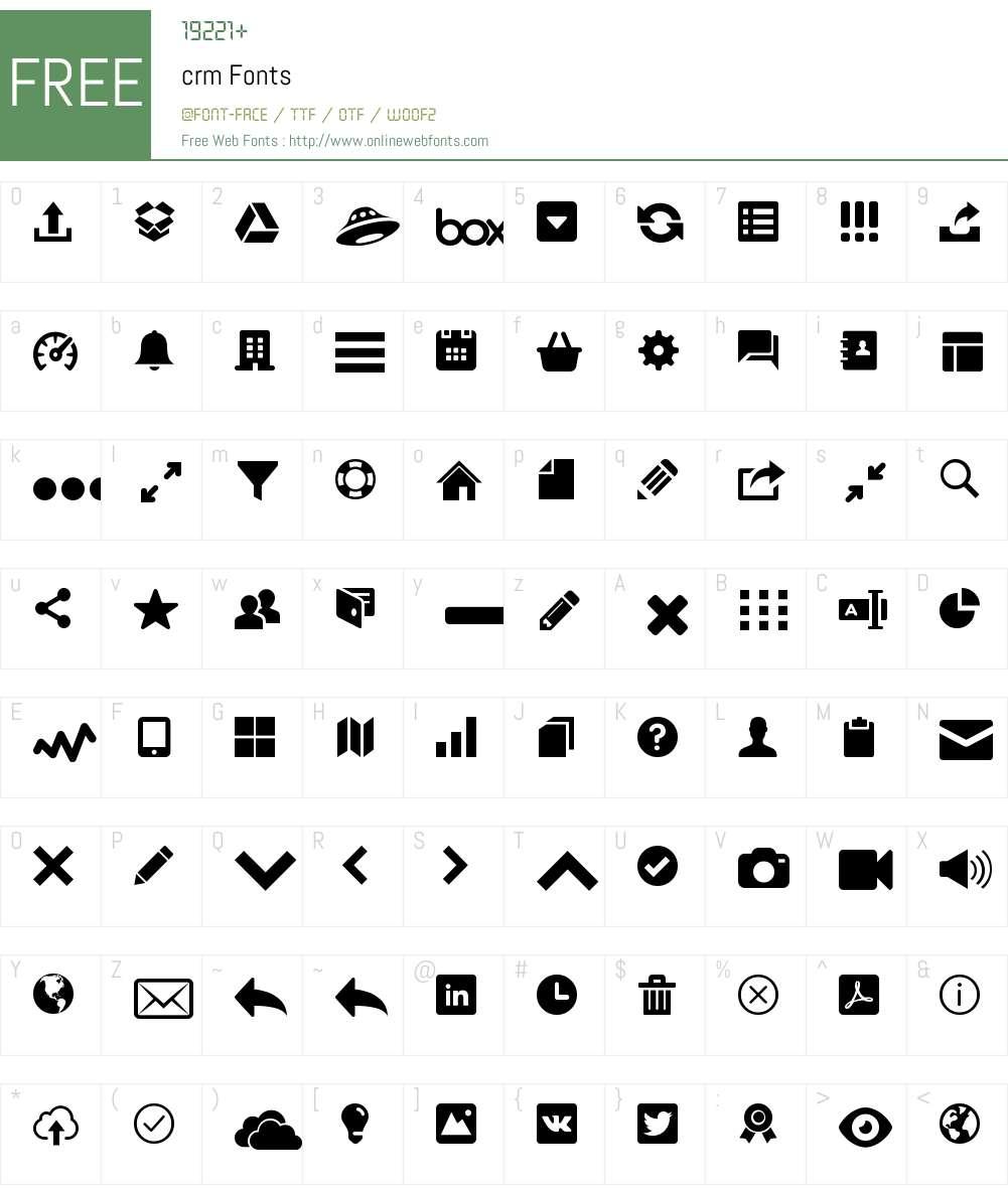 crm Font Screenshots