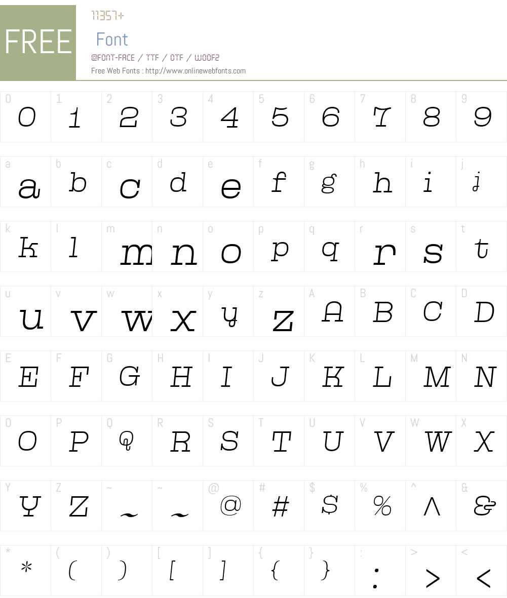 Kinghorn205W00-ThinObl Font Screenshots